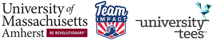 umass amherst, team impact, university tees