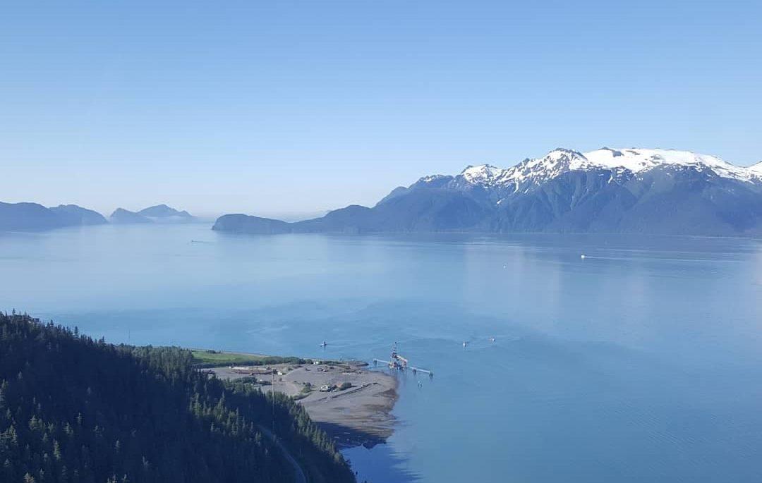 Alaskan mountains and ocean