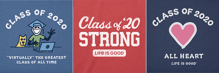 life is good graduate tees row 1