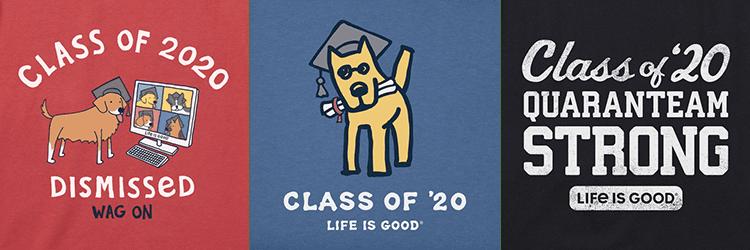life is good graduate tees row 1