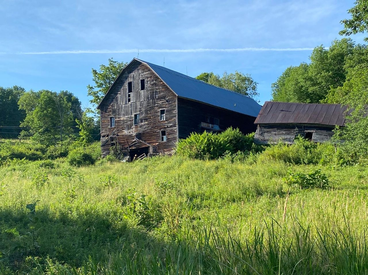 Old barn found on a hike