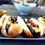 Sausages with Beer Cheese Sauce 1
