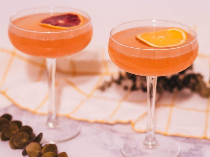 Winter Citrus French 75 2