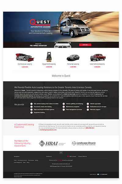 Quest Auto Leasing Independent Website