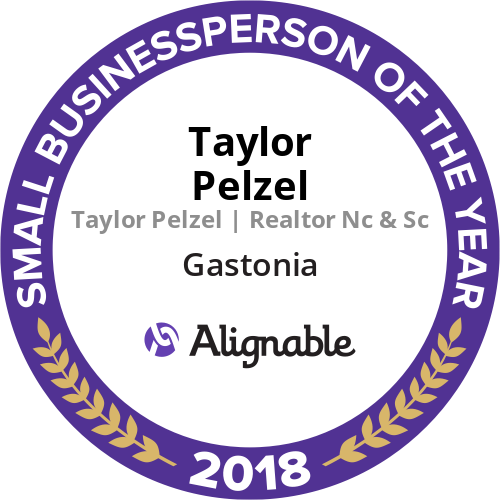 Real Estate 2019-10-01 - Gastonia NC Small Businessperson of the Year 2018 Taylor Pelzel Realtor