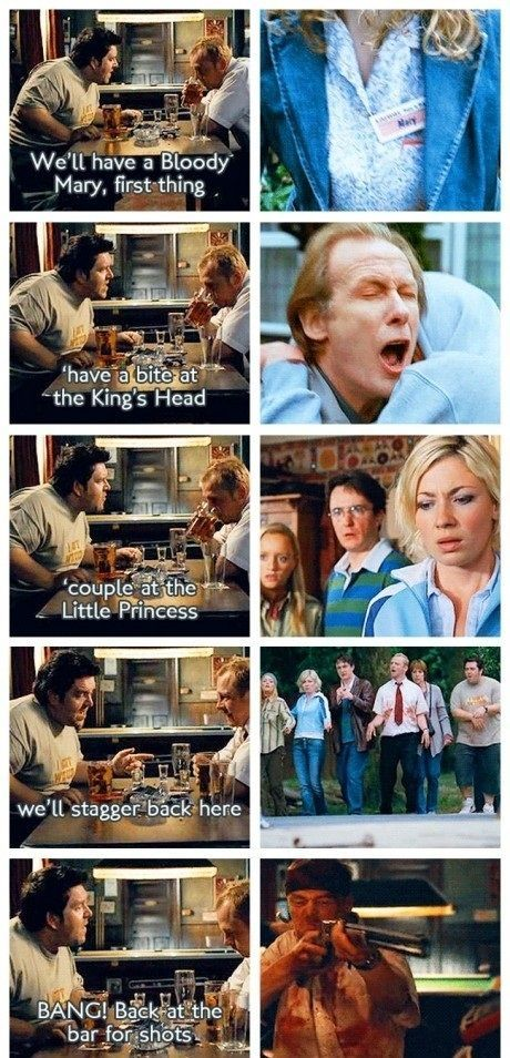 shaun of the dead and foreshadowing