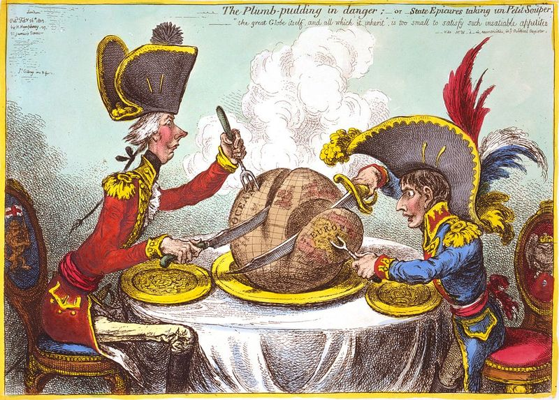 james gillray the plumb-pudding-in-danger