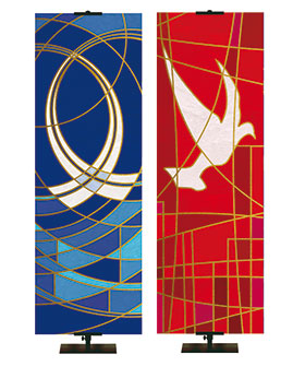 Modern Church Banners new Stained Glass Look