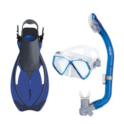 Kids Masks Snorkels and Fins