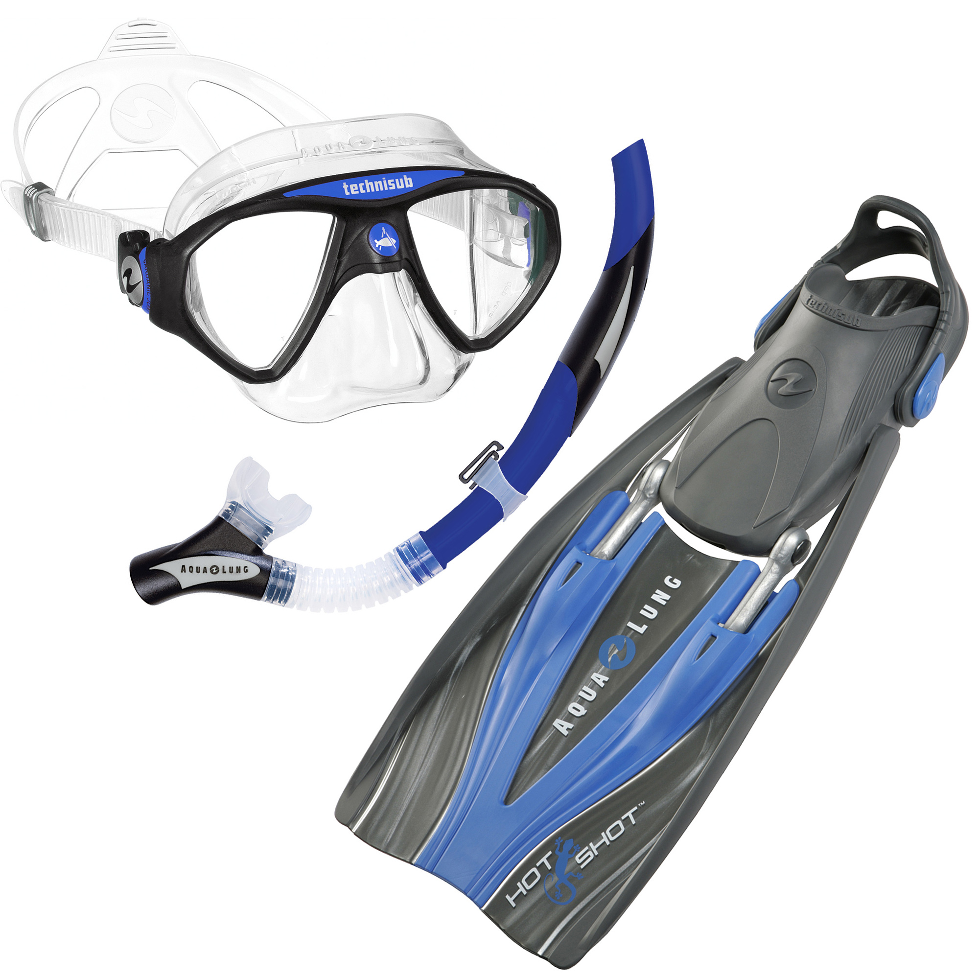 Aqua lung travel mask fins snorkel divers direct for Dive system tech fin