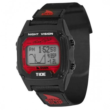 Freestyle Shark Clip Tide LCD Dive Watch (Unisex) - Black/Red
