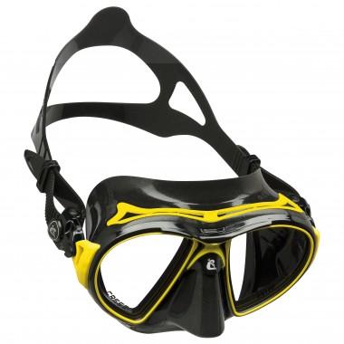 Cressi Air Black Dive Mask - Black/Yellow