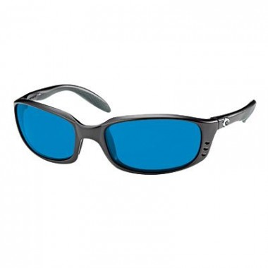 Costa Del Mar Brine Polarized Sunglasses - Black Blue Mirror