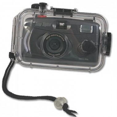 Underwater 35mm Film Camera with Flash