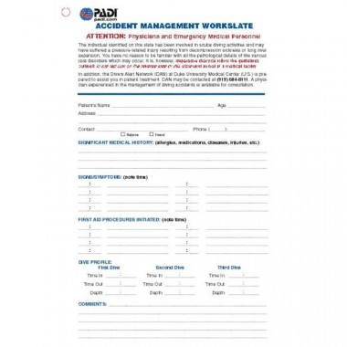 PADI Rescue Slate