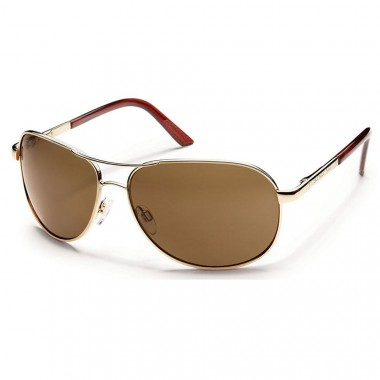Suncloud Aviator Gold/Brown Sunglasses