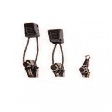 Graphite Zipper Pull 3 Piece Kit