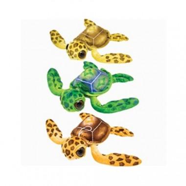 Plush 11.5 Inch Big Eyed Sea Turtle