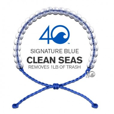 4Ocean Recycled Conservation Bracelet (Unisex) - Blue Signature