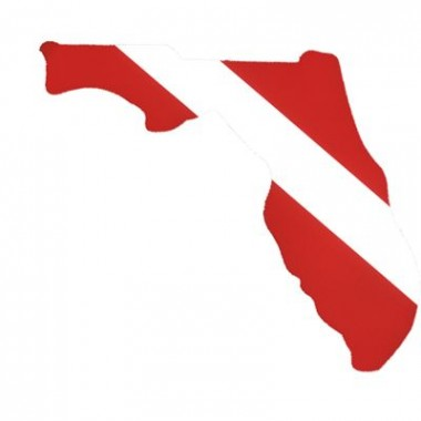 Florida Dive Flag Sticker