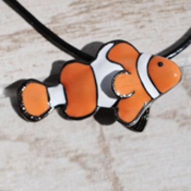Big Blue Clownfish Necklace