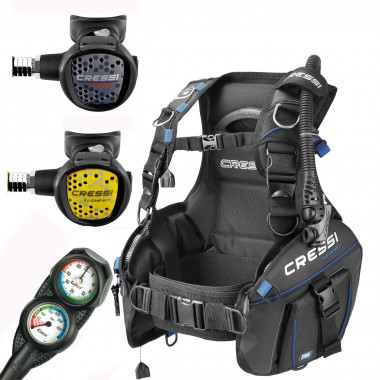 Cressi AquaPro+ BCD Scuba Package