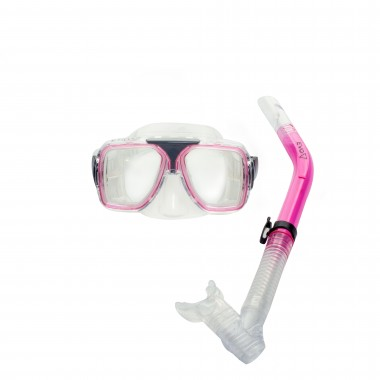 EVO Drift Dual-Lens Mask and Semi-Dry Snorkel Combo - Pink
