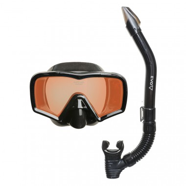 EVO Hi Definition Mask and Snorkel Combo - Single Lens
