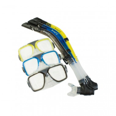 EVO Drift Dual-Lens Mask and Semi-Dry Snorkel Combo