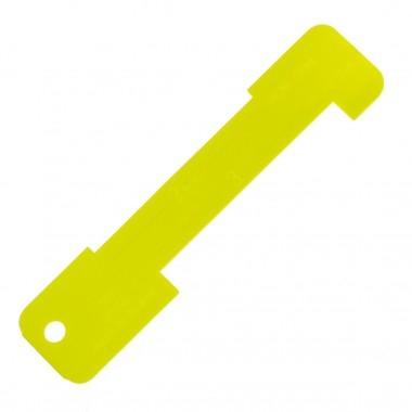 Innovative Scuba Yellow Plastic Lobster Gauge