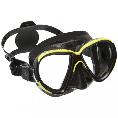 Aqua Lung Reveal X1 Single-Lens Dive Mask Black Yellow