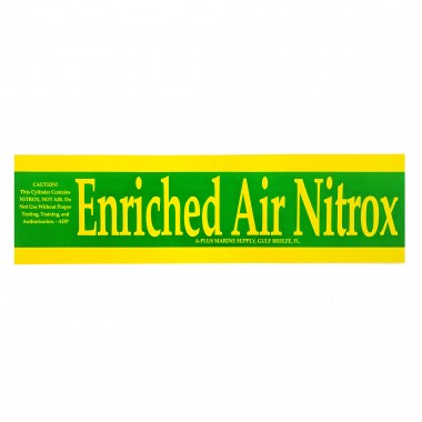 Nitrox Sticker For Tanks