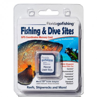 Florida Go Fishing GPS Fishing & Dive Sites Memory Card - Lower Florida Keys