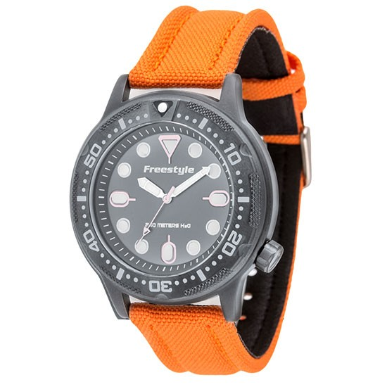 Freestyle ballistic diver analog dive watch men 39 s orange divers direct - Orange dive watch ...