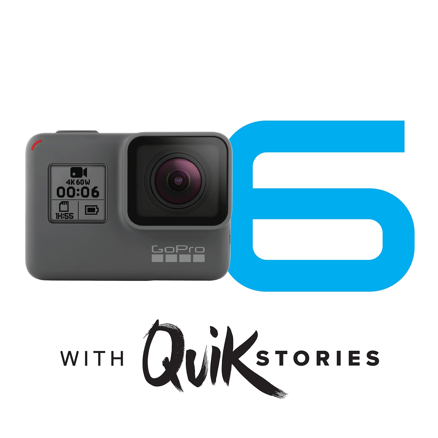 GoPro HERO6 Black Action Camera with FREE 32GB Memory Card