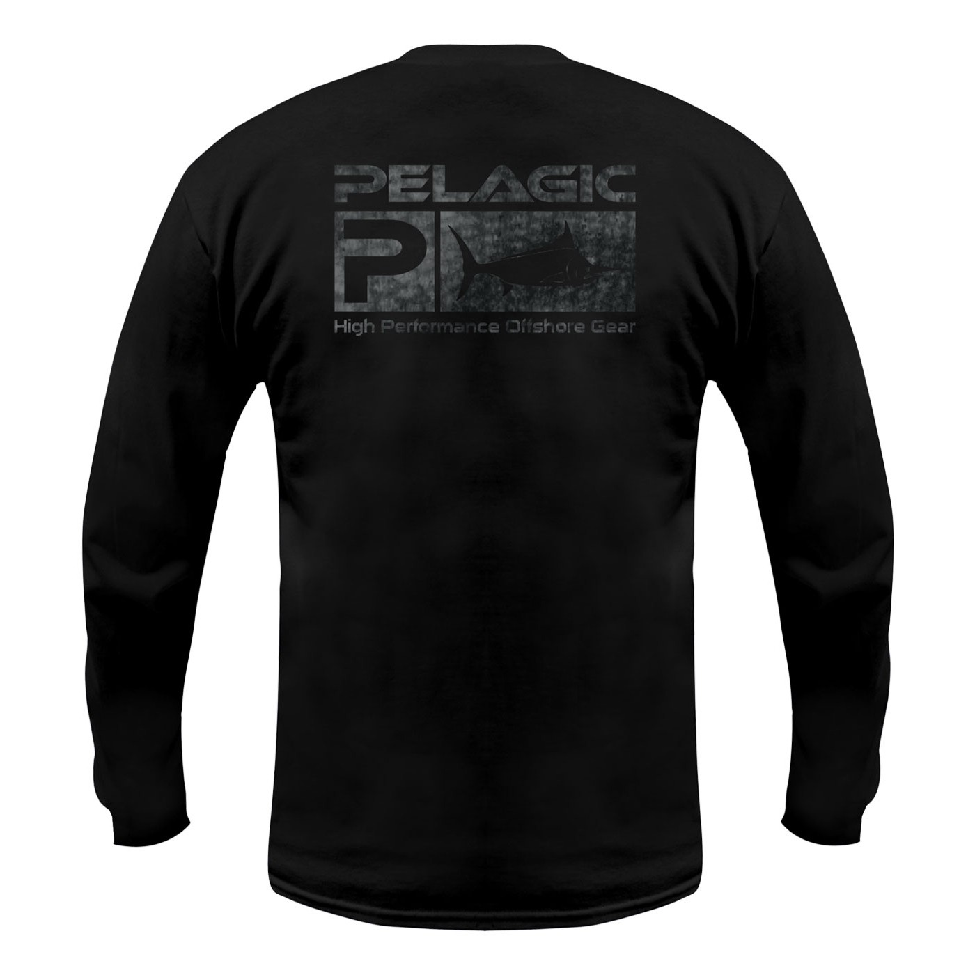 Pelagic Deluxe Logo Pattern Long-Sleeved Tee