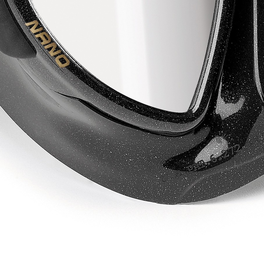 Cressi Nano Black Mirrored Mask Detail