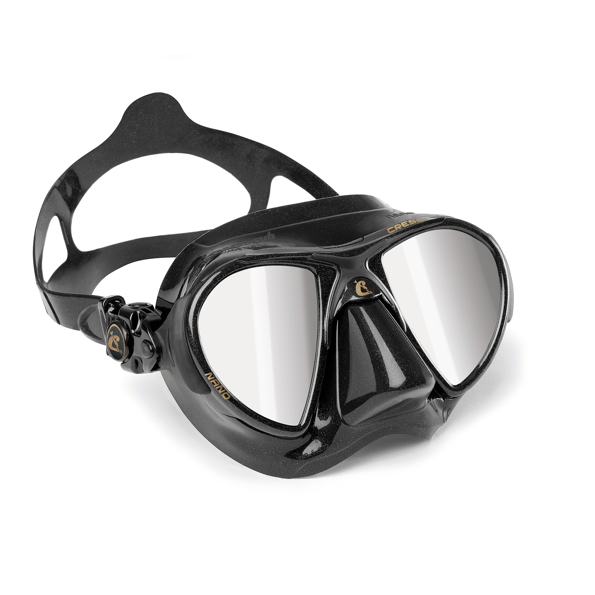 Cressi Nano Black Mirrored Mask