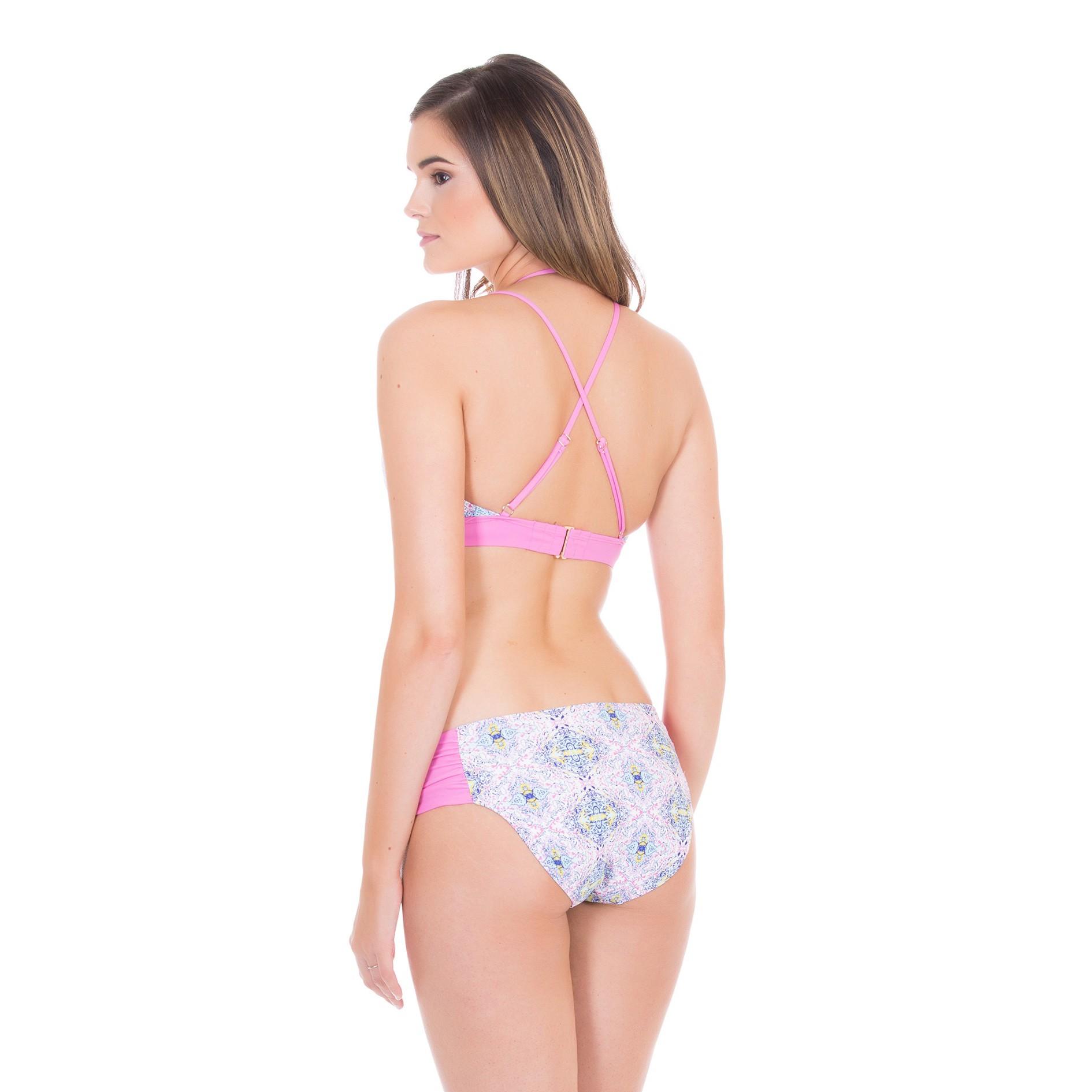 Cabana Life Side Ruched +50 UV Bikini Bottom (Women's)