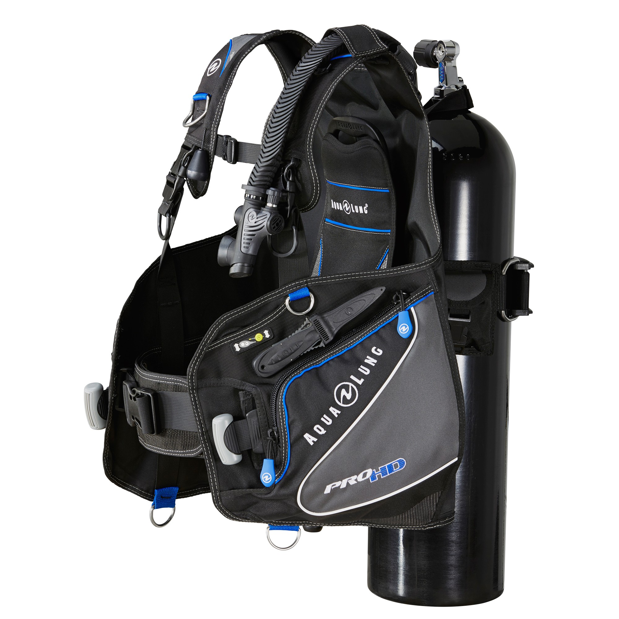 Aqua Lung Pro HD Scuba BCD Side 1 Tank