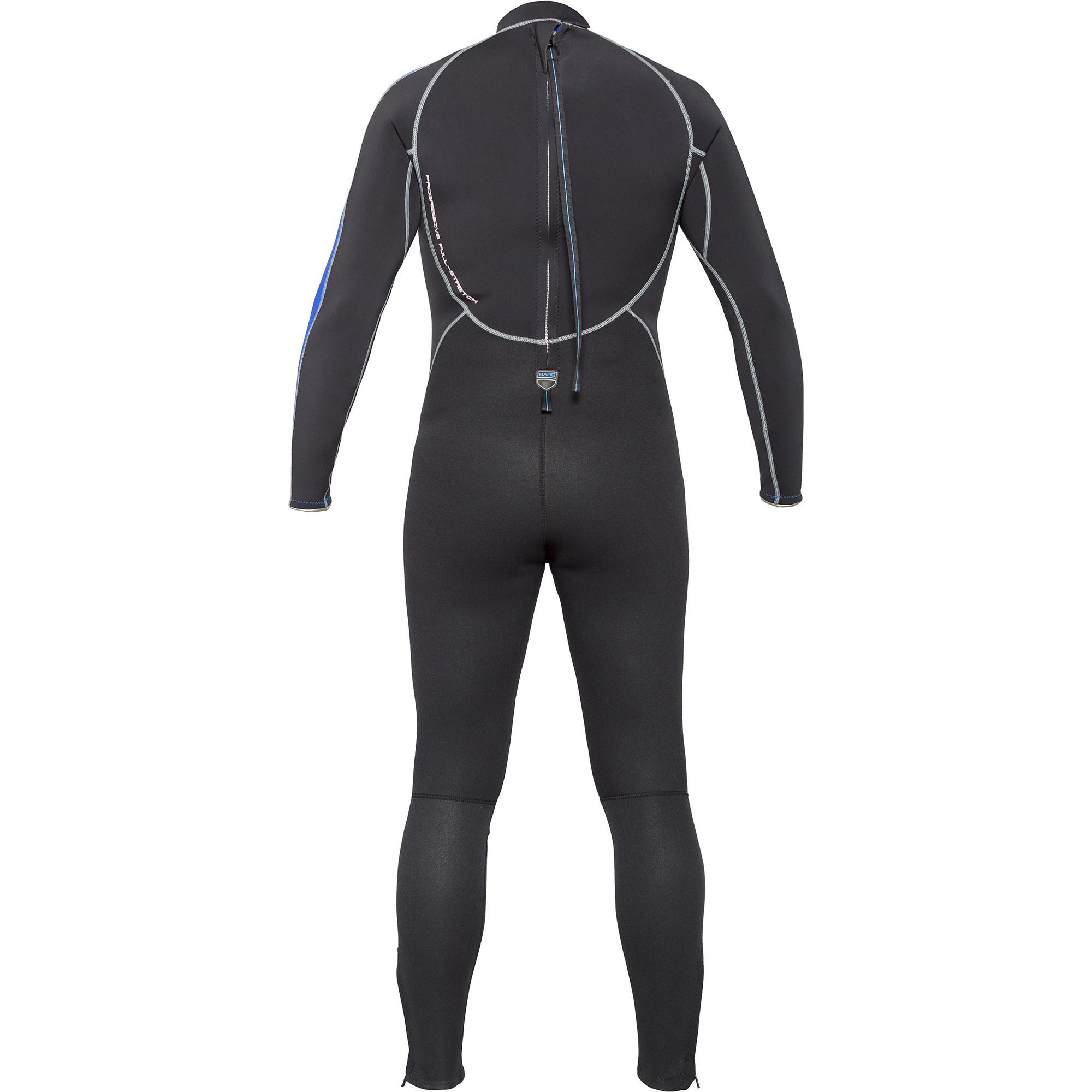 BARE 3mm Velocity Full Mens Wetsuit Back
