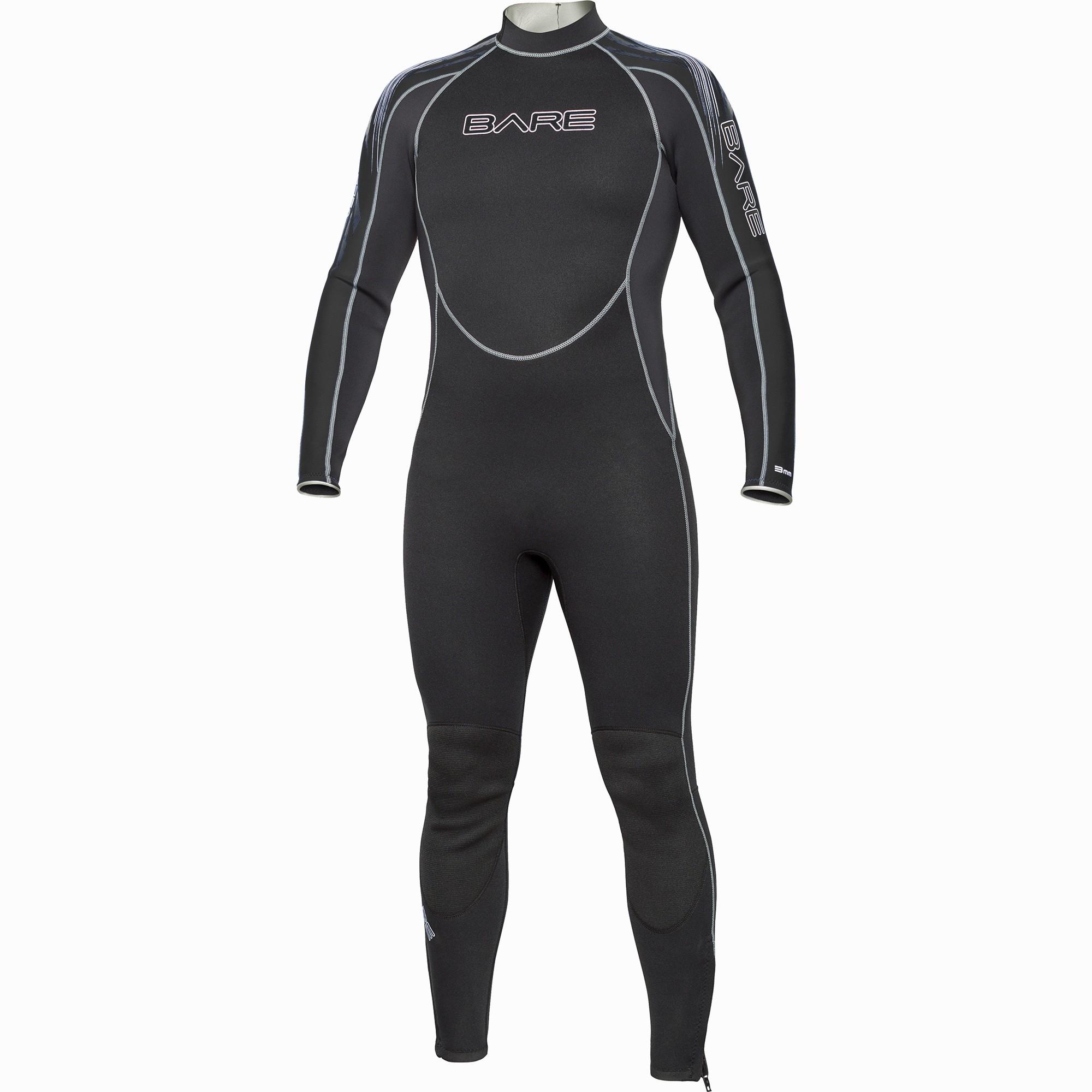BARE 3mm Velocity Full Mens Wetsuit Black