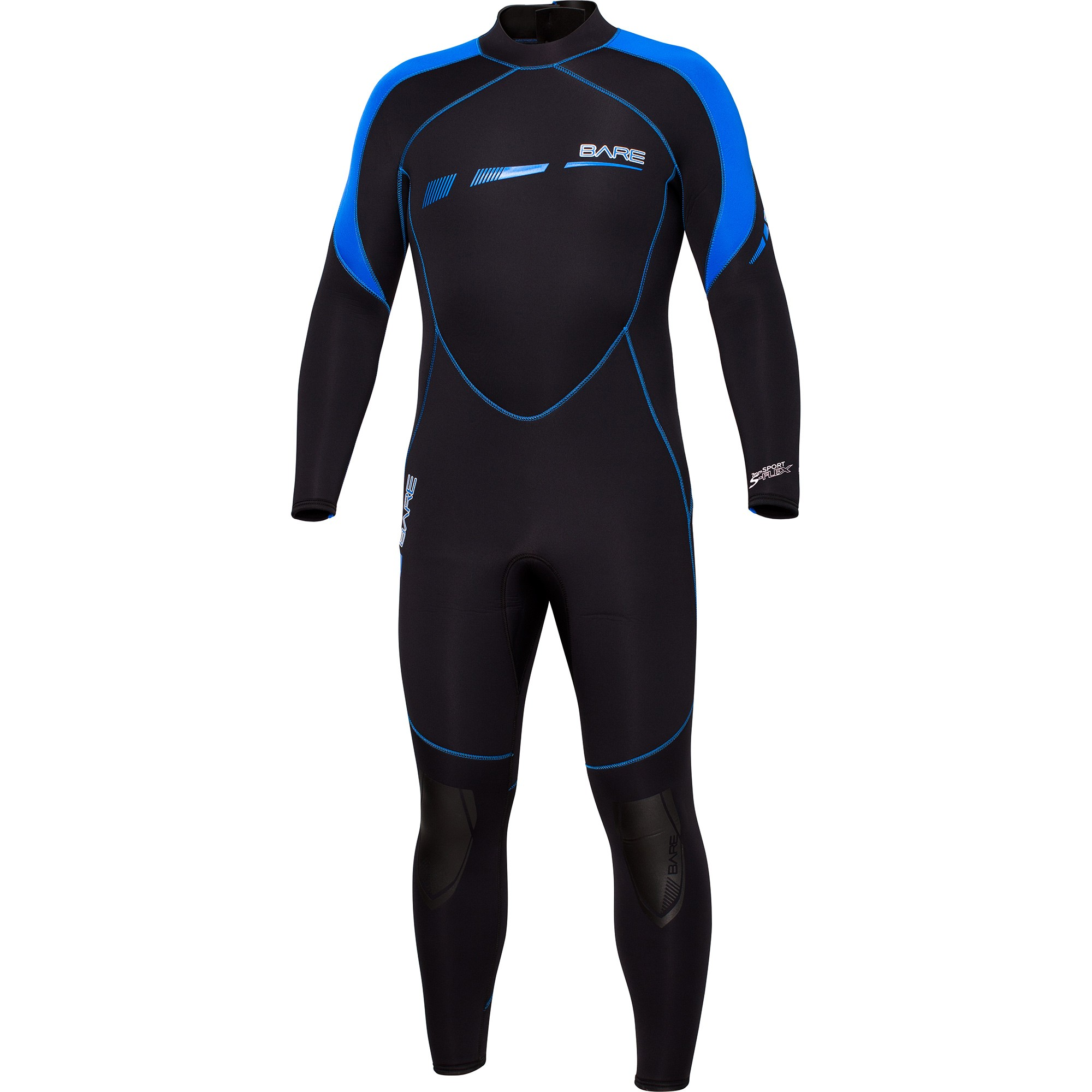 BARE Sport S-Flex 7MM Full Wetsuit Front