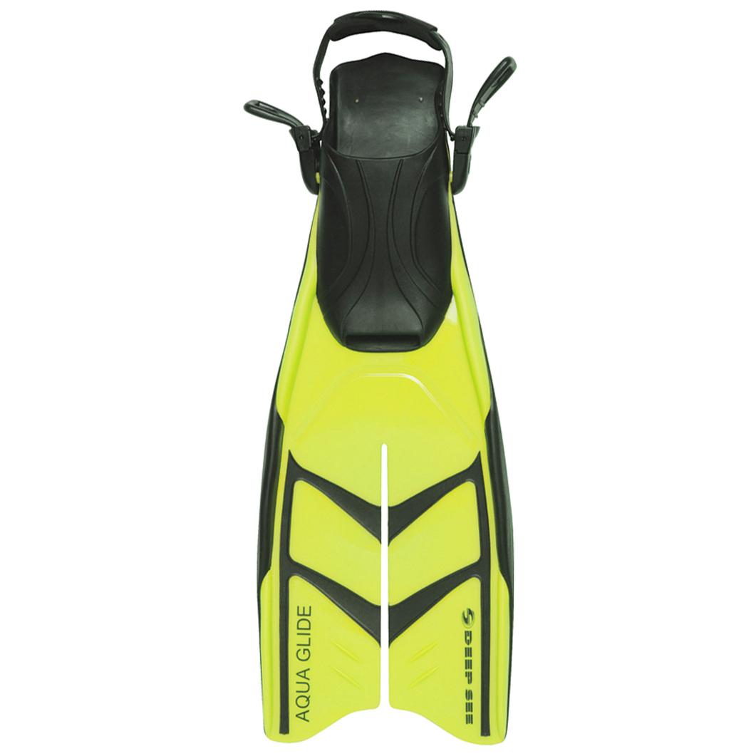 Deep See Aqua Glide Dive Fins - Yellow