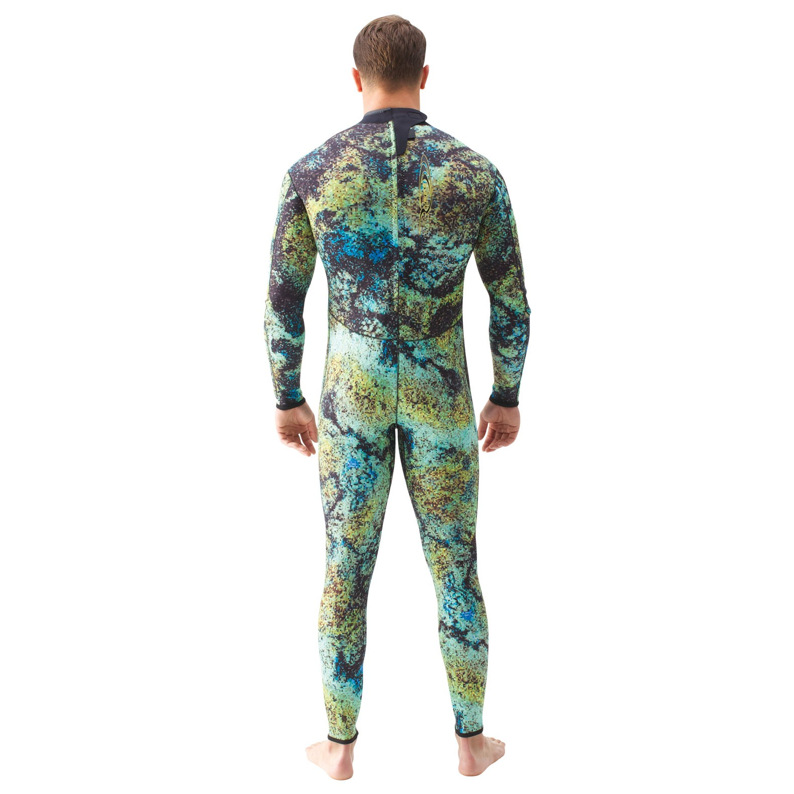 spearfishing wetsuit back