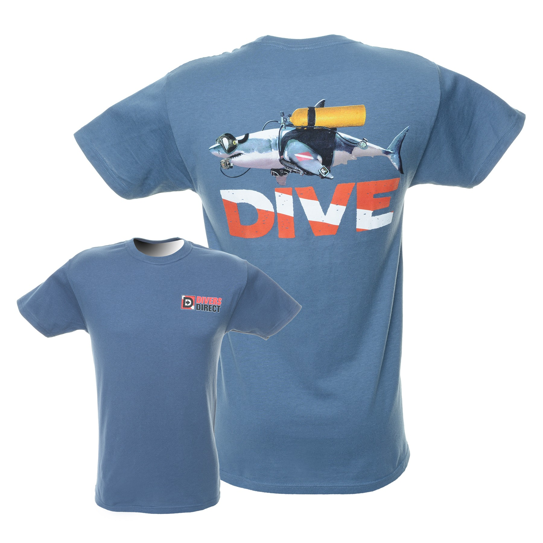 Great white shark dive t shirt divers direct for Good white t shirts