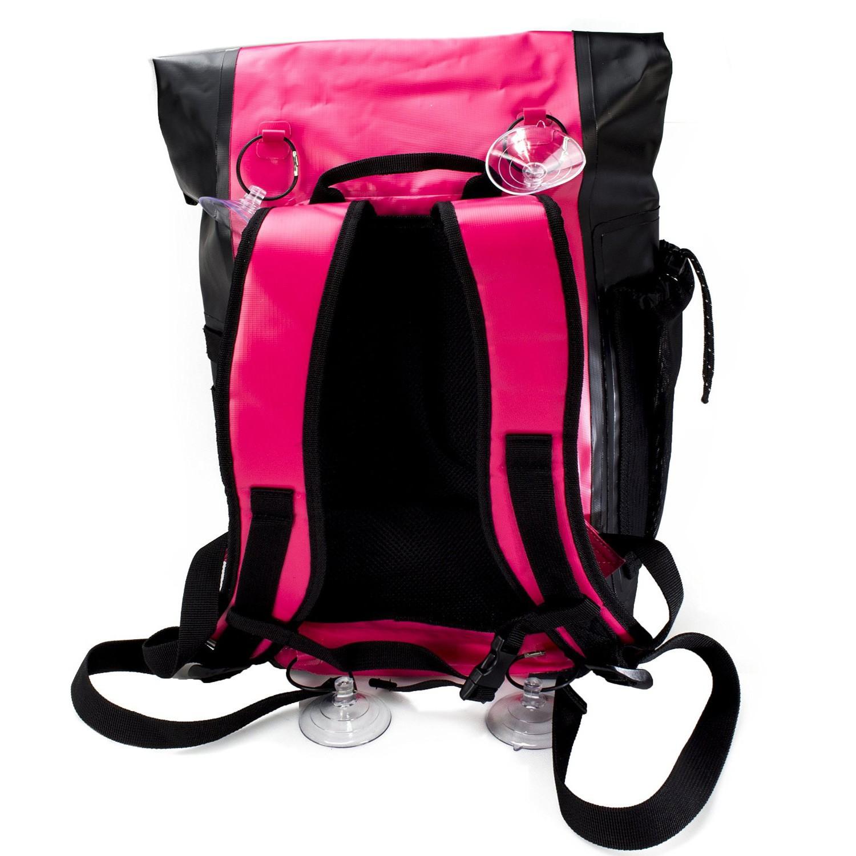 Drycase Basin Waterproof Backpack Pink - Back