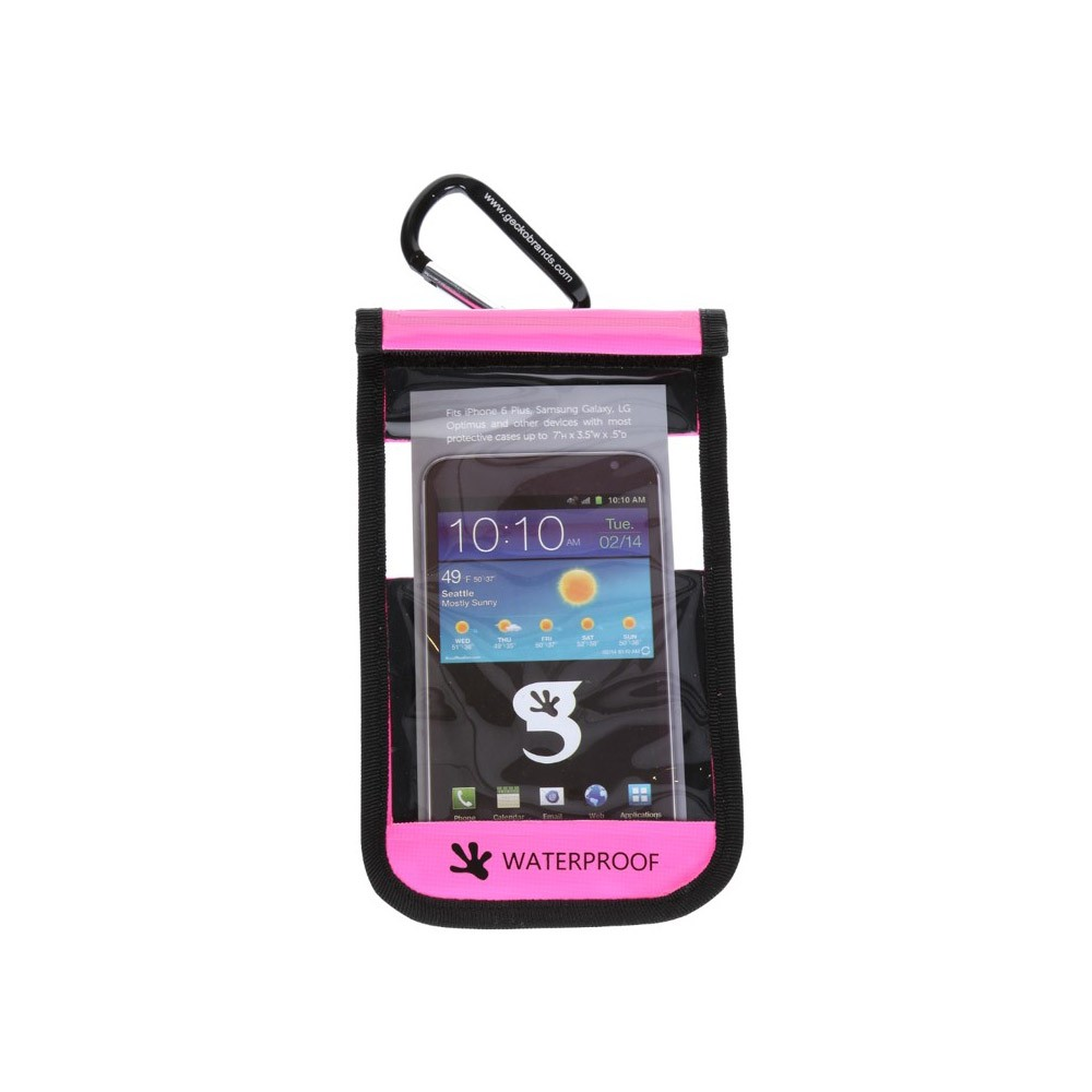 Gecko Galaxy Drybag Pink - Front