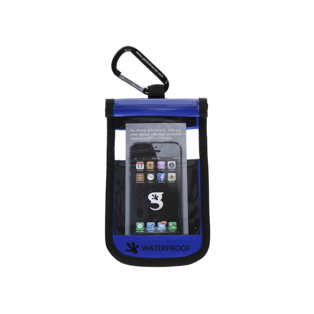 Gecko iPhone Drybag Blue - Front