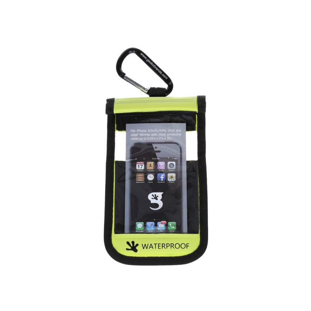 Gecko iPhone Drybag Green - Front